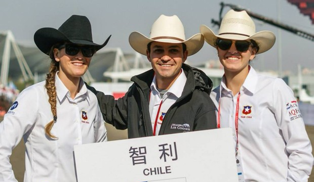 Dupla chilena consiguió bronce en Mundial Ecuestre en China